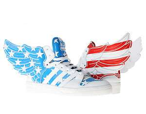 Adidas Jeremy Scott JS Wings 2.0 America White/Blue/Red Mens Shoes