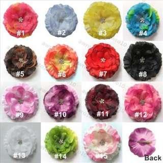 10 Lot daisy jewel flower baby hair bow headband #2B010