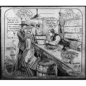 McGuires Anti Mail Order Cartoon,c1914,general store
