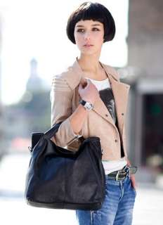 NEW KOREAN STYLE PU Faux Cow Leather Lady Tote Clubbing shoulder Bag