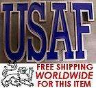 Military Belt Buckle pewter U S Air Force text NEW