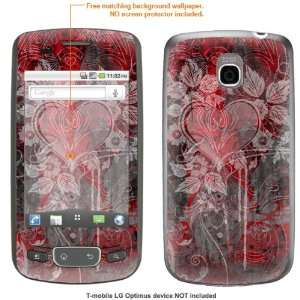 Protective Decal Skin STICKER for T Mobile LG Optimus case