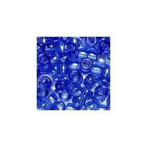 Dark Sapphire Transparent Plastic Pony Beads 6x9mm, Super Value Pack
