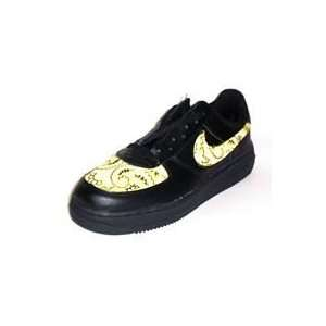 Bandana Nike Air Force One Low Top (Black/Yellow): Sports & Outdoors