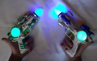 pcs Blinking LED Light Up Flashing Space Pistol Toy Gun with Sound