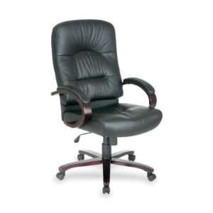 Lorell Lorell Woodbridge Series Executive High Back Chair Office