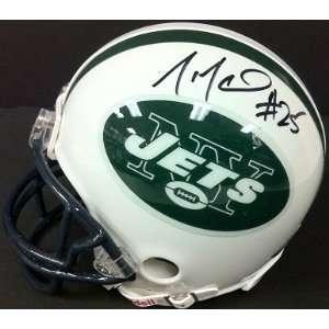 Joe McKnight Autographed Mini Helmet Auto Signed Jets