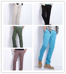 VANCL Mens Pants Fashion Straight Basic Comfort Fit Cotton Khaki