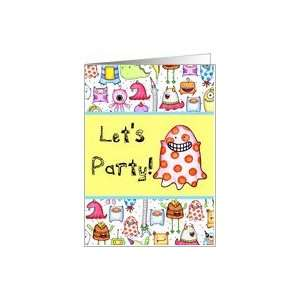 Little Monsters Birthday Party Card Toys & Games