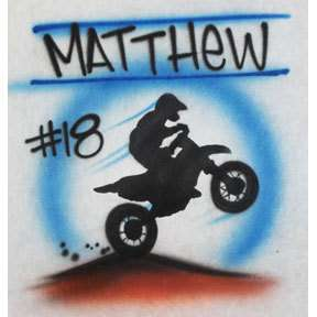 Motorcross dirt bike shirt any name custom personalized
