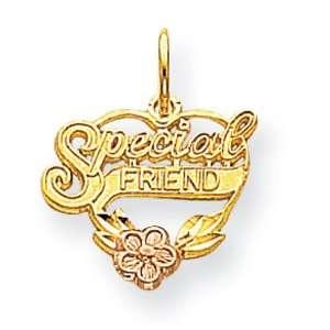 10k Special Friend Heart Charm West Coast Jewelry