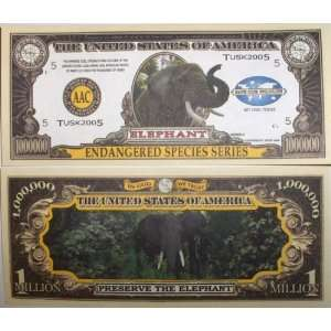 Set of 10 Bills Elephant Million Dollar Bill Toys & Games