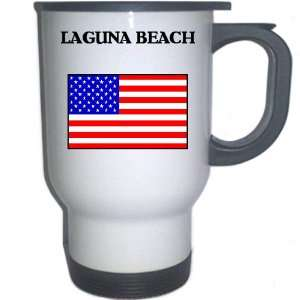 US Flag   Laguna Beach, California (CA) White Stainless