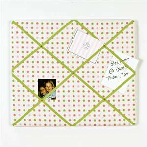 Girls Study Time Padded Polka Dot Message Board