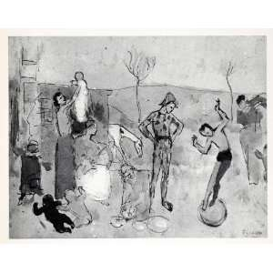 com 1965 Print Pablo Picasso Circus Family Costume Baby Art Abstract