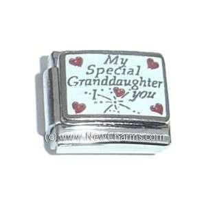 Granddaughter I Love You Italian Charm Bracelet Jewelry Link Jewelry