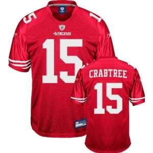 Michael Crabtree Jersey Reebok 2009 Authentic Red #15 San Francisco