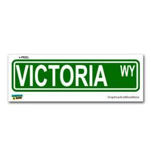 Victoria street road sign 8.25 x 2.0 size name window bumper