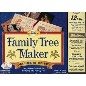 Broderbund Family Tree Maker Version 7 12 CD Set Software