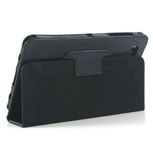 ZuGadgets Black Leather Stand Case for Galaxy Tab GT P6800