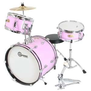 Pink Drum Set Complete Junior Kids Childrens Size with Cymbal