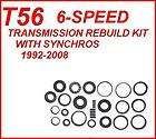 T56 6 SPEED MANUAL TRANSMISSION REBUILD KIT WITH SYNCHROS 1992 2008
