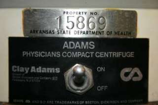 MEDICAL CLAY ADAMS STAINLESS STEEL 4 SLOT COMPACT PHYSICIANS