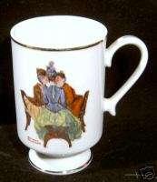 Danbury Mint Norman Rockwell 1981 The Gossips Mug New