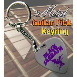 Black Sabbath Devil Metal Guitar Pick Keyring Musical