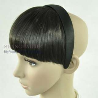 Bangs Fringe Clip On In Fake Hair Extension Women Party Fancy Dress
