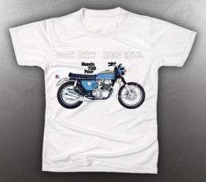 VINTAGE HONDA 750 FOUR MOTORCYCLE TEE SHIRT LIKE NOS