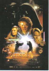 Star Wars Revenge of the Sith Poster 4 x 6 Postcard NEW