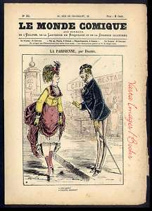 LE MONDE COMIQUE #31 Paris circa 1860s Humor Satire ~ Store FINAL SALE