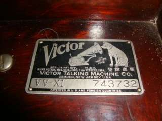 Victrola Talking Machine VV XI See Streaming Video!! Nice!