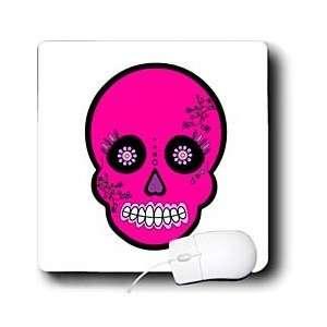 Dead Skull Día de los Muertos Sugar Skull Pink   Mouse Pads