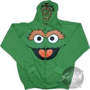 Sesame Street Oscar Grouch Reversible Hoodie Hooded L