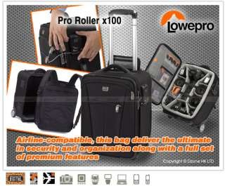 Lowepro Pro Roller x100 Rolling DSLR Camera Case #A112