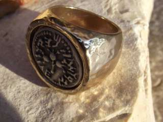 Vtg Antique Carved INTAGLIO Chunky Gold Ring W/Ancient Style Silver