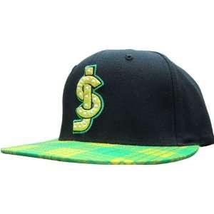 Shake Junt Classic Shake Junt Logo Hat Black/Green Flannel Snap Back