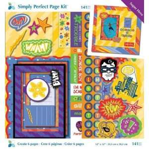 Super Hero Simply Perfect Page Kit Arts, Crafts & Sewing