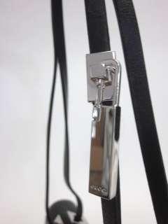 AUTH GUCCI Black Leather Small Tote Shoulder Handbag