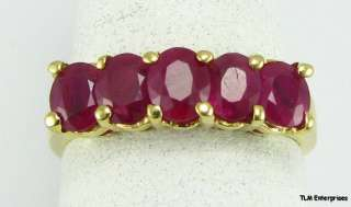 43CTW Genuine Tiers RUBY RING   18K Yellow Solid GOLD Estate |