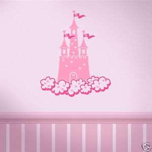 Fairytale Prlncess Castle vinyl Wall Art Decal Decor