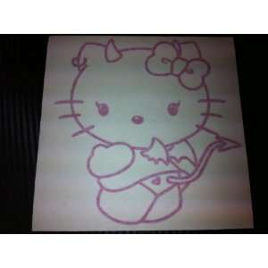 1 X Hello Kitty Devil Style Racing Car Decal Sticker