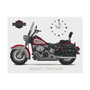Harley Davidson Clock   Cross Stitch Kit