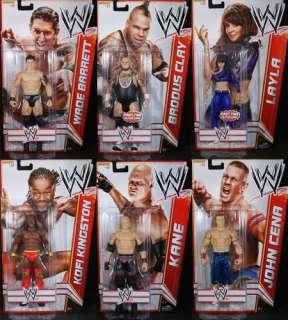 SET OF 6   WWE SERIES 15 MATTEL TOY WRESTLING ACTION FIGURES