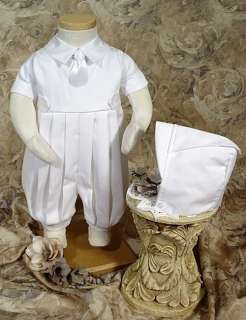 Baby Boy White Christening Baptism Knicker Outfit 0 24M