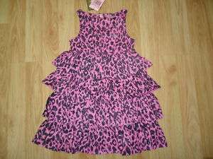 NWT NEW Boutique Juicy Couture Pink Leopard Dress 4