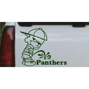 Pee On Panthers Car Window Wall Laptop Decal Sticker    Dark Green 6in