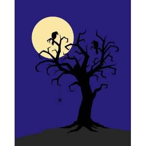 Skulls and Scary Things Tree Wall Mural: Home & Kitchen